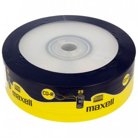 MAXELL CD-R 700 MB, ШПИНДЕЛ 25 БР.